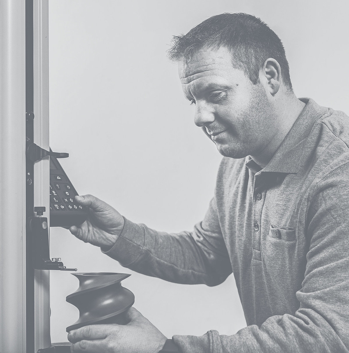An engineer working with a RSE screw segments